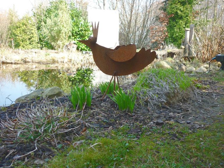 Gartendeko vogel garten deko leistungen edelstahl und metallbau schlosserei balsmeier - Gartendeko edelstahl ...